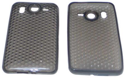 Schutzhülle weich, dunkel transparent passend zu HTC Desire HD (3ppp3.ch)