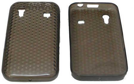 Schutzhülle weich, dunkel transparent passend zu Samsung Galaxy Ace (3ppp3.ch)