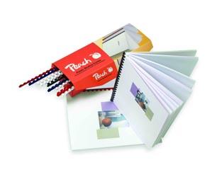 Peach Binderücken 10mm, für je 65 Blatt A4, blau, 100 Stück - PB410-04 (3ppp3.ch)