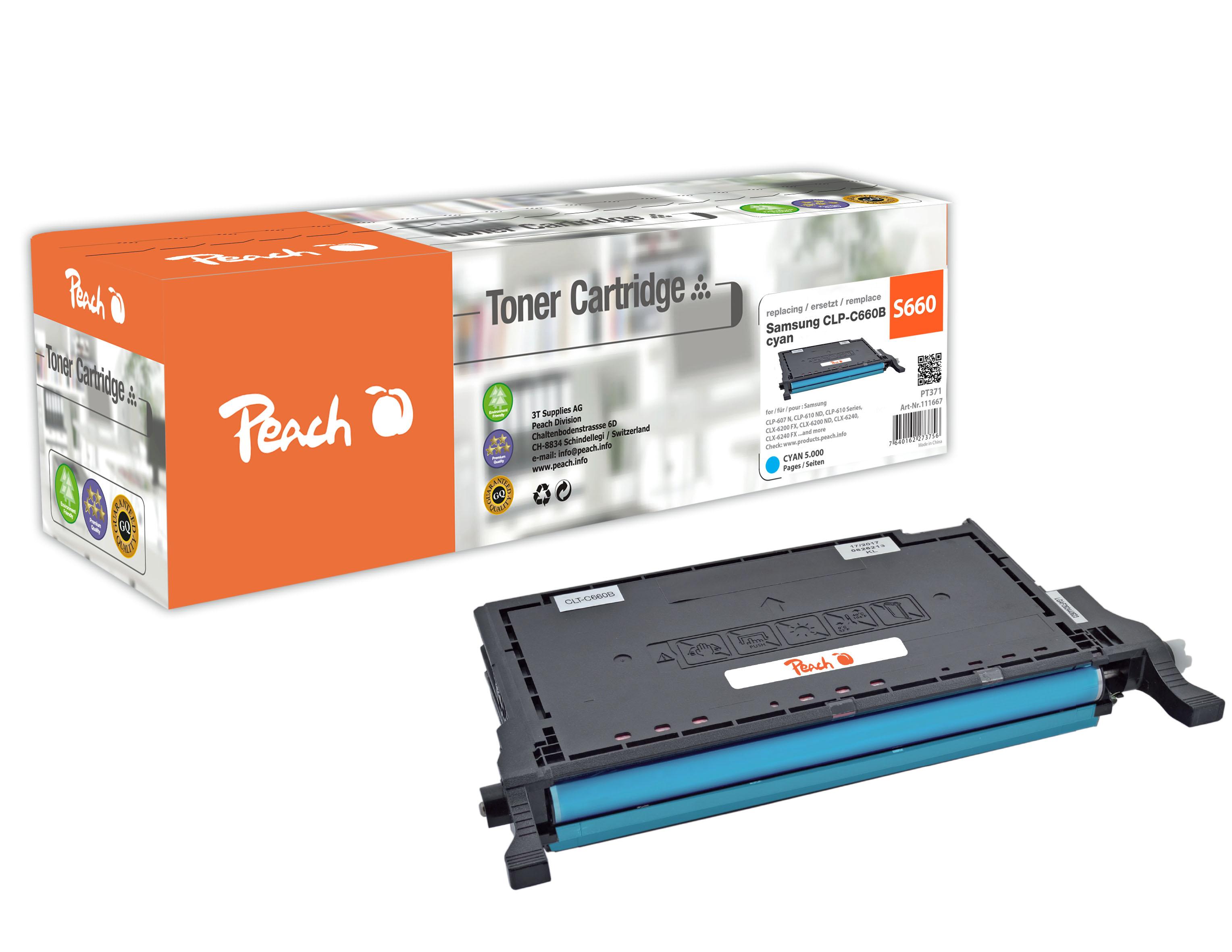 peach-tonermodul-cyan-kompatibel-zu-samsung-clp-c660b, 39.00 EUR @ 3ppp3-de
