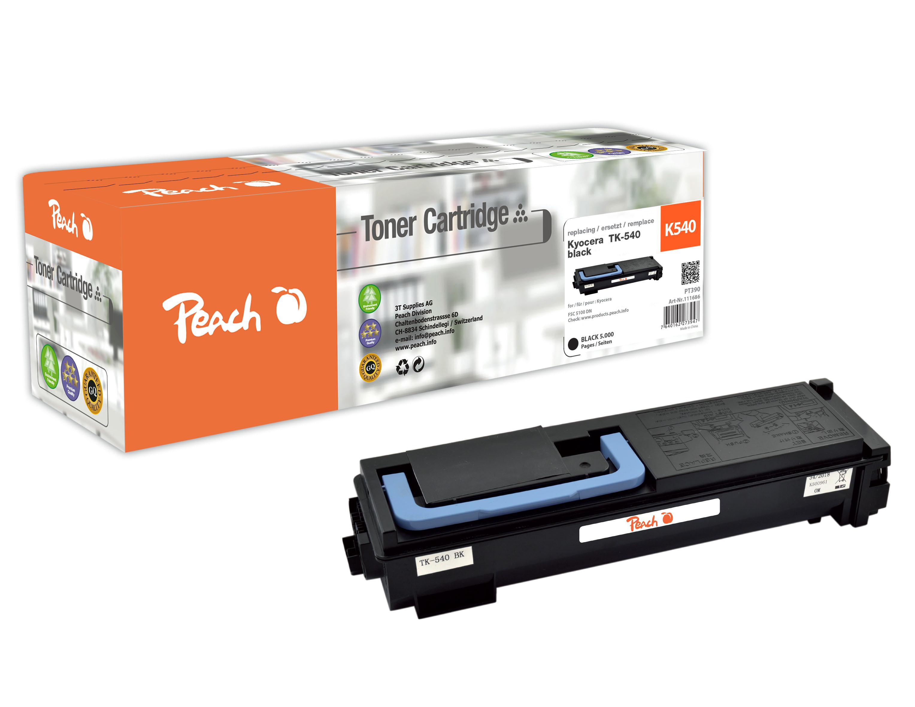 peach-tonermodul-schwarz-kompatibel-zu-kyocera-tk-540k, 29.00 EUR @ 3ppp3-de