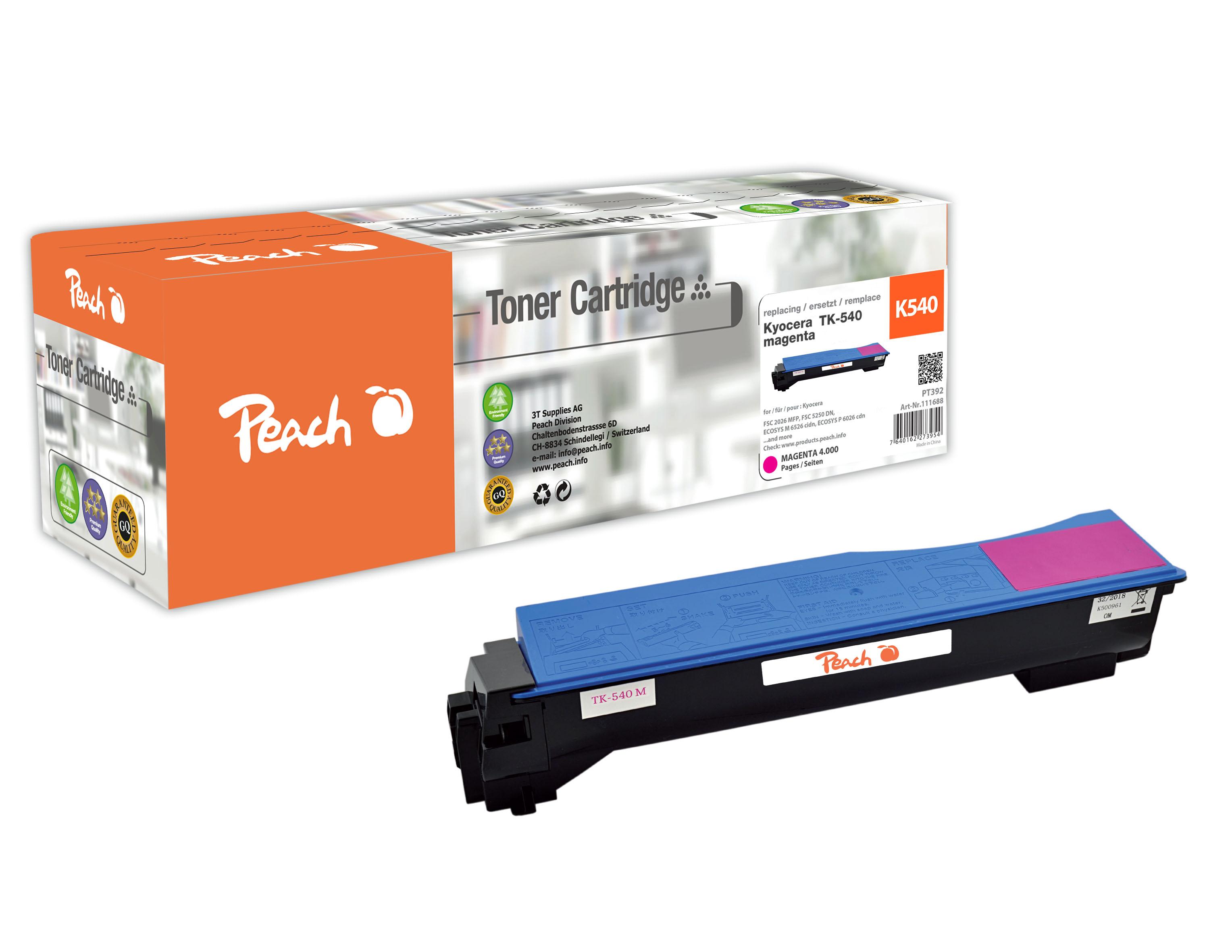 peach-tonermodul-magenta-kompatibel-zu-kyocera-tk-540m, 35.70 EUR @ 3ppp3-de