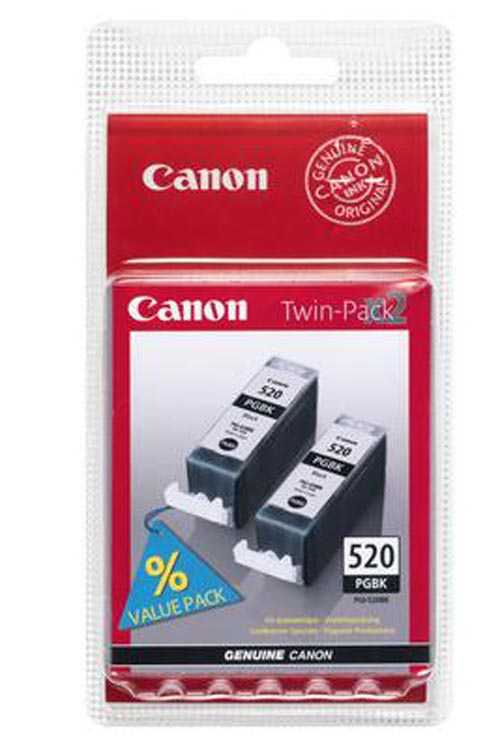 Image of 2 Original Tintenpatronen schwarz, Canon PGI-520PGBK, 2932B001