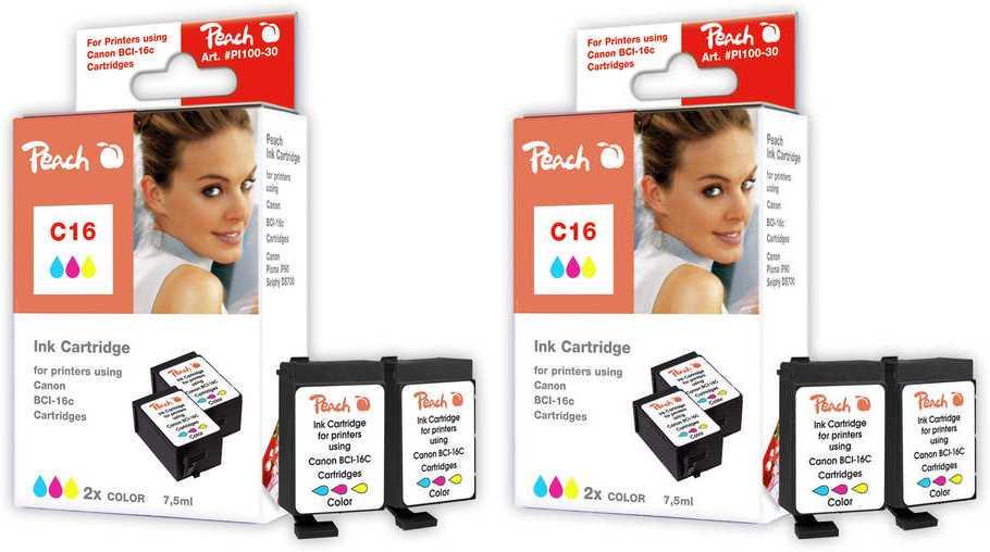 peach-doppelpack-2-tintenpatronen-color-kompatibel-zu-canon-bci-16-c