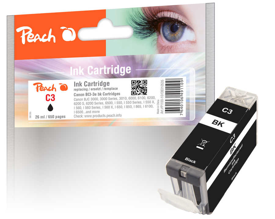 peach-tintenpatrone-schwarz-kompatibel-zu-canon-bci-3e-bk, 3.70 EUR @ 3ppp3-de