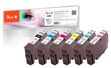 Spar Pack Tintenpatronen kompatibel zu Epson T0801, T0802, T0803, T0804, T0805, T0806