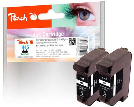 peach-doppelpack-druckkopfe-schwarz-kompatibel-zu-kodak-hp-pitney-bowes-apple-no-45-51645a