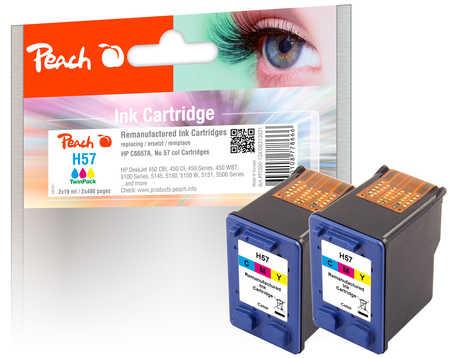 peach-doppelpack-druckkopfe-color-kompatibel-zu-hp-no-57-c6657ae