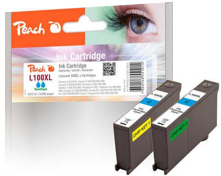 peach-doppelpack-2-tintenpatronen-cyan-kompatibel-zu-lexmark-100xl-14n1093