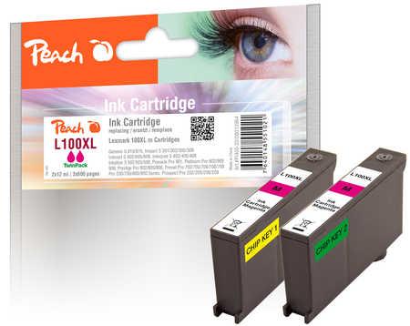 peach-doppelpack-2-tintenpatronen-magenta-kompatibel-zu-lexmark-100xl-14n1094