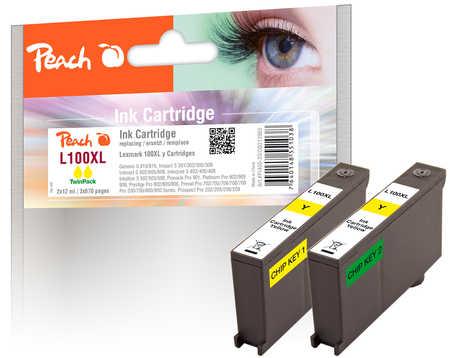 peach-doppelpack-2-tintenpatronen-gelb-kompatibel-zu-lexmark-100xl-14n1095