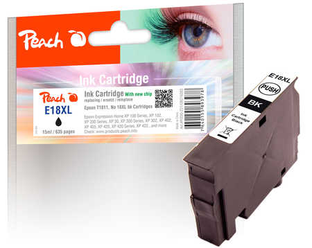 peach-tintenpatrone-schwarz-kompatibel-zu-epson-t1811-no-18xl-bk