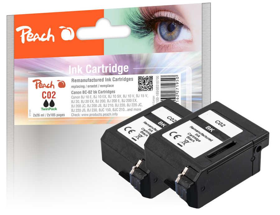 peach-doppelpack-druckkopfe-schwarz-kompatibel-zu-lexmark-canon-ibm-epson-konica-minolta-brother-ricoh-apple-bc-02-bk