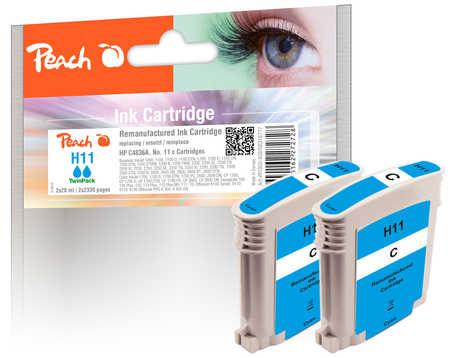 peach-doppelpack-tintenpatronen-cyan-kompatibel-zu-hp-no-11-cyan-c4836a