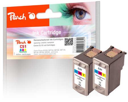 peach-doppelpack-druckkopfe-color-kompatibel-zu-canon-cl-51
