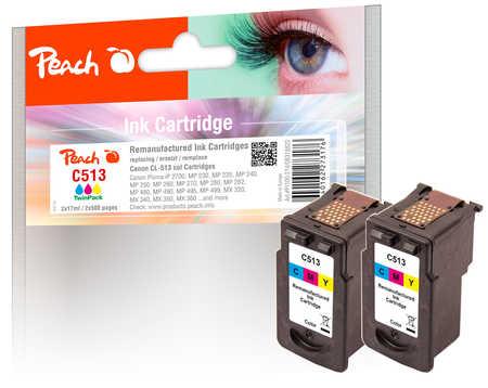 peach-doppelpack-druckkopfe-color-kompatibel-zu-canon-cl-513