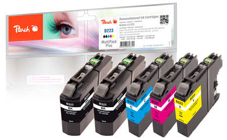 peach-spar-plus-pack-tintenpatronen-kompatibel-zu-brother-lc-223series