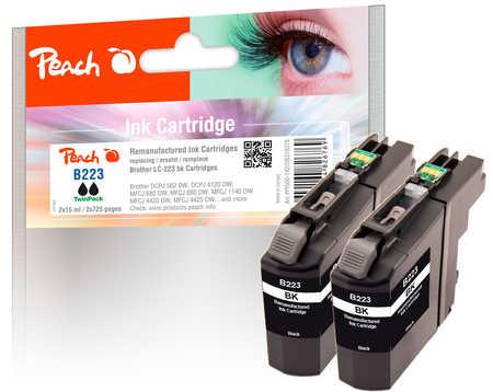 peach-doppelpack-tintenpatrone-schwarz-kompatibel-zu-brother-lc-223bk