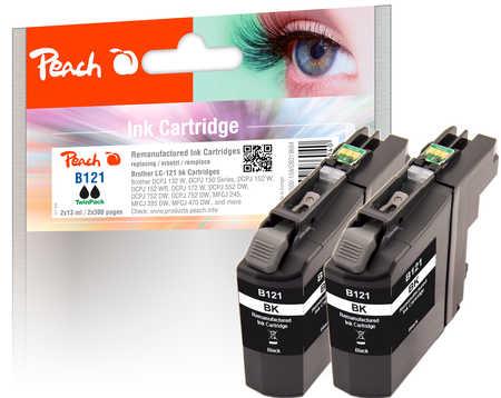 peach-doppelpack-tintenpatronen-schwarz-kompatibel-zu-brother-lc-121bk