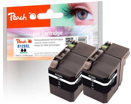 peach-doppelpack-tintenpatronen-xxl-schwarz-kompatibel-zu-brother-lc-129xl