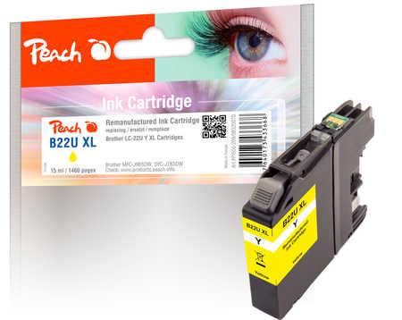 peach-tintenpatrone-gelb-xl-kompatibel-zu-brother-lc-22uxl-m, 6.40 EUR @ 3ppp3-de