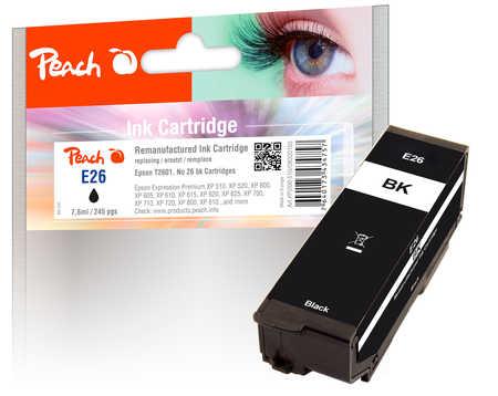 peach-tintenpatrone-schwarz-kompatibel-zu-epson-t2601-no-26-bk