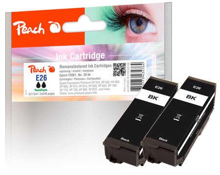 peach-doppelpack-tintenpatronen-schwarz-kompatibel-zu-epson-t2601-no-26-bk